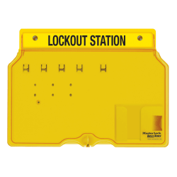 Master Lock® Unfilled Padlock Lockout Station With Cover