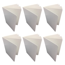 """Blank Chunky Board Book, 6"""" x 8"""" Portrait, White, Pack of 6"""