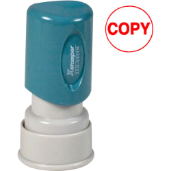 """Xstamper® One-Color Specialty Stamp, Round, """"Copy"""", Red"""