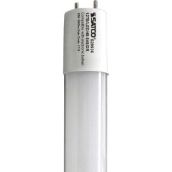 Satco 12W T8 LED Tube - 12 W - 1800 lm - T8 Size - Gloss White - Cool White Light Color - G13 Base - 50000 Hour - 6740.3°F (3726.8°C) Color Temperature - 82 CRI - 210° Beam Angle - 10 / Carton