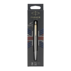Parker® Jotter Gel Pen, Medium Point, 0.7 mm, Stainless-Steel/Gold Barrel, Black Ink