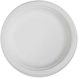 "Genuine Joe Disposable Plates, 6"" Diameter, White, Pack Of 50"
