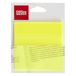 """Office Depot® Brand Translucent Sticky Notes, 3"""" x 3"""", Yellow, 50 Notes Per Pad"""