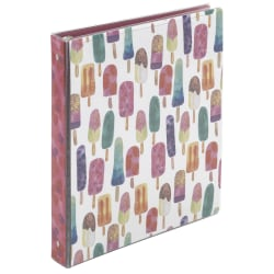 """Office Depot® Brand Fashion Binder, 1"""" Rings, Popsicle"""