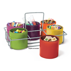 """Essential Learning Products Sensational Classroom 6-Cup Caddy, 10-1/2""""H x 7-1/2""""W x 3""""D, Multicolor"""