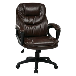 Office Star™ Work Smart™ High-Back Chair, Chocolate/Black