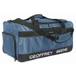"Overland Geoffrey Beene Embroidered Duffel Bag, 11-1/2""H x 12""W x 28""D, Blue"
