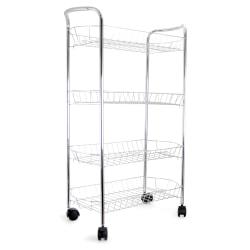 Better Chef 4-Tier Storage Cart, Chrome