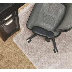 """Realspace™ Economy Studded Low Pile Chair Mat, 36"""" x 48"""", Clear"""