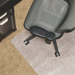 "Realspace™ Berber Studded Chair Mat For Low-Pile Carpets, 46""W x 60""D, Clear"