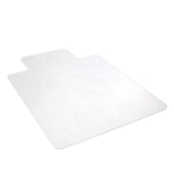 """Realspace™ Hard Chair Mat For Hard Surfaces, Wide Lip, 45"""" x 53"""", Clear"""