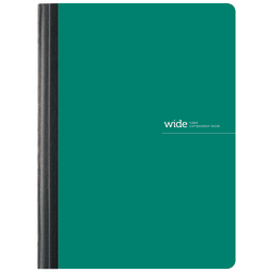 "Office Depot® Brand Poly Composition Book, 7 1/2"" x 9 3/4"", Wide Ruled, 160 Pages (80 Sheets), Green"