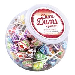 Dum Dum Lollipops Candy Bowl, Assorted Flavors, 30 Oz