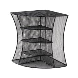 Onyx Mesh Corner Organizer, Six Sections, 15 x 11 x 13, Black