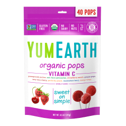 Yummy Earth Organic Vitamin C Lollipops, 8.5 Oz, Pack Of 3 Bags