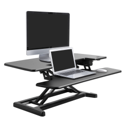 "Flexispot EM7MB Electric Sit-Stand Desk Riser, 35 13/16"" x 24"", Black"
