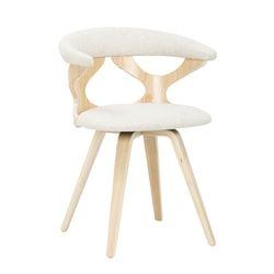 LumiSource Gardenia Chair, Cream/Natural