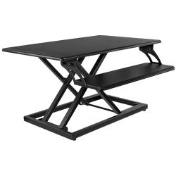 Mount-It! MI-7964 Adjustable Standing Desk Converter With Gas-Spring Lever, Black