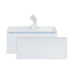 """Office Depot® Brand Clean Seal™ Security Envelopes, #10, 4 1/8"""" x 9 1/2"""", 30% Recycled, White, Box Of 500"""
