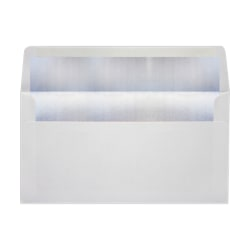 """LUX Photo Greeting Foil-Lined Invitation Envelopes With Peel & Press Closure, A7, 4 3/8"""" x 8 1/4"""", White/Silver, Pack Of 1,000"""