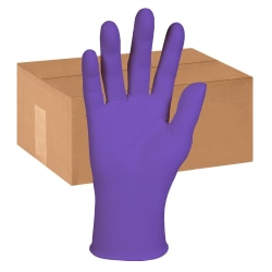 Kimberly-Clark Professional Purple Nitrile-XTRA Exam Gloves - X-Large Size - Nitrile, Polyethylene, Natural Rubber - Purple - Latex-free, Beaded Cuff, Textured Fingertip, Durable, Tear Resistant - For Chemotherapy - 500 / Carton