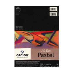 """Canson Mi-Teintes Black Pad, 9"""" x 12"""", Black, 24 Sheets Per Pad"""