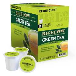 Bigelow® Green Tea Single-Serve K-Cups®, 1.5 Oz, Box Of 24 Pods