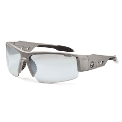 Ergodyne Skullerz® Safety Glasses, Dagr, Matte Gray Frame, Indoor/Outdoor Lens
