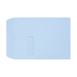 """LUX Open-End Window Envelopes With Peel & Press Closure, #9 1/2, 9"""" x 12"""", Baby Blue, Pack Of 500"""