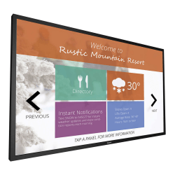 """Philips Signage Solutions Multi-Touch FHD LED Monitor, 54.64"""", VESA Mount, 55BDL4051T"""