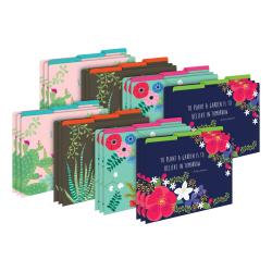 Barker Creek Tab File Folders, Letter Size, Petals & Prickles, Pack Of 24 Folders