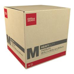 "Office Depot® Brand Heavy-Duty Corrugated Moving Box, 18""H x 18""W x 18""D, Kraft"