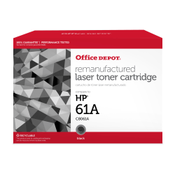 Office Depot® Brand 61A Remanufactured Toner Cartridge Replacement For HP 61A Black