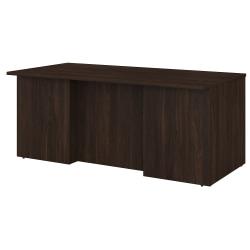 "Bush Business Furniture Office 500 72""W Executive Desk, Black Walnut, Standard Delivery"