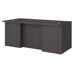 "Bush Business Furniture Office 500 72""W Executive Desk, Storm Gray, Standard Delivery"