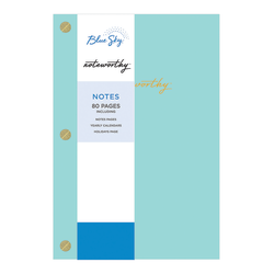 "Blue Sky™ Noteworthy Notebook, 5-3/4"" x 8-1/2"", Faint Ruled, 80 Pages, Aqua"