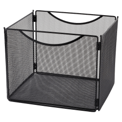 "Safco® Mesh Desktop File Box, Letter Size, 10""H x 12 1/2""W x 11""D, Black"