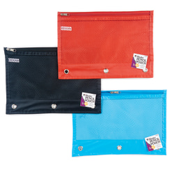 "Charles Leonard Pencil Pouches, 11"" x 8-1/2"", Assorted Colors, Pack Of 24 Pouches"