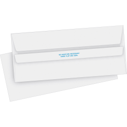 """Business Source No. 10 Self-seal Invoice Envelopes - Business - #10 - 4 1/8"""" Width x 9 1/2"""" Length - 24 lb - Self-sealing - 500 / Box - White"""
