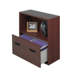 Safco® Apres Lower Drawer Bookcase, Mahogany