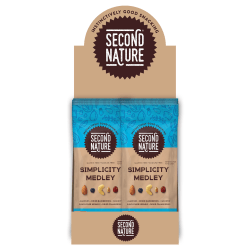 SECOND NATURE Simplicity Medley Mixed Nuts, 2.25 oz, 12 Count