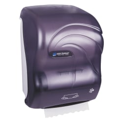 San Jamar® Simplicity Mechanical Roll Towel Dispenser, Black Pearl