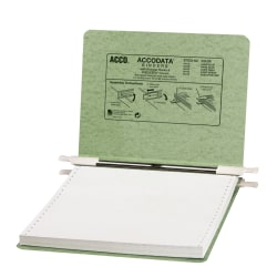 "Wilson Jones® Presstex® Data Binder With Retractable Hooks, 9 1/2"" x 11"", 60% Recycled, Green"