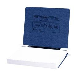 Wilson Jones® Presstex® Data Binder With Retractable Hooks, 60% Recycled, Dark Blue