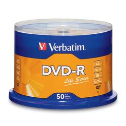 Verbatim® Life Series DVD-R Disc Spindle, Pack Of 50
