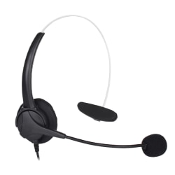 Centon On-Ear Monoaural Headset, Black, OB-ANK