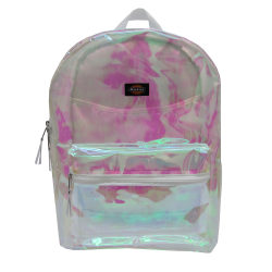 Dickies® Deluxe Clear PVC Laptop Backpack, White