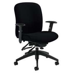 "Global® Heavy-Duty Truform Multi-Tilter Adjustable Chair, Mid-Back, 38 1/2""H x 26""W x 25""D, Black"