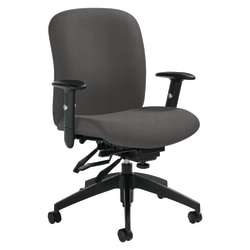 "Global® Heavy-Duty Truform Multi-Tilter Adjustable Chair, High-Back, 42""H x 26""W x 25""D, Slate"