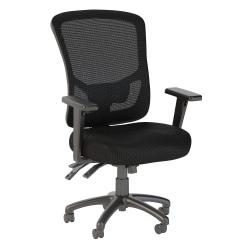 Bush Business Furniture Custom Comfort High Back Multifunction Mesh Office Chair, Black, Standard Delivery